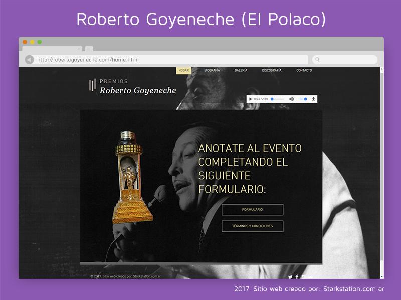 Sitio Web Roberto Goyeneche